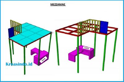 Mezzanine Rangka Besi alas Multiplek siap menerima pesanan area Bandung
