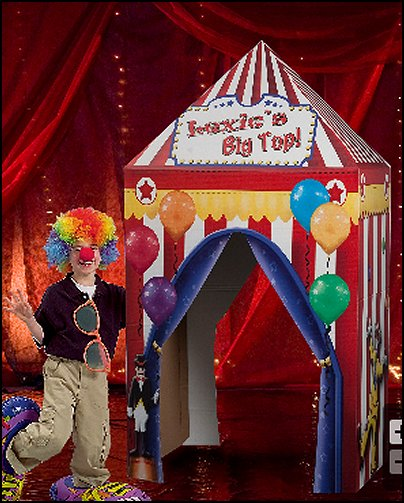 Circus Tent makes a perfect entrance for your little one's birthday party.