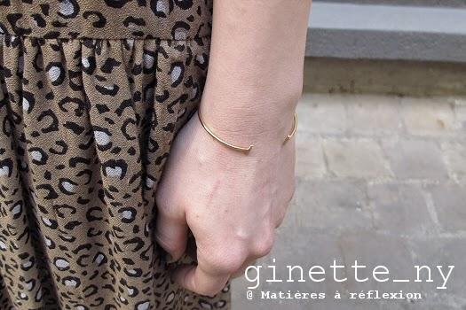Bracelet Ginette NY bijoux Gold strip 18 carats