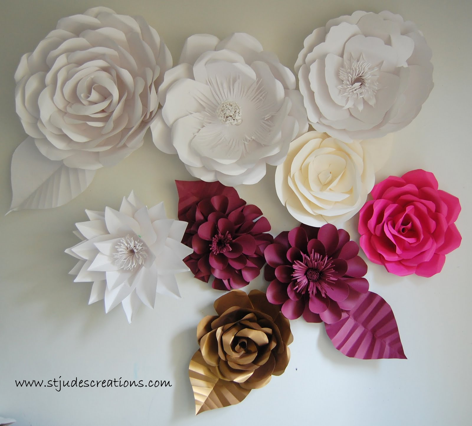 Paper Decorations To Make At Home Oversized Paper Flowers Handmade Paper Flowers By Maria
