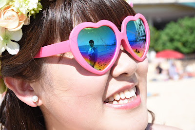 Pink Heart Sunglasses