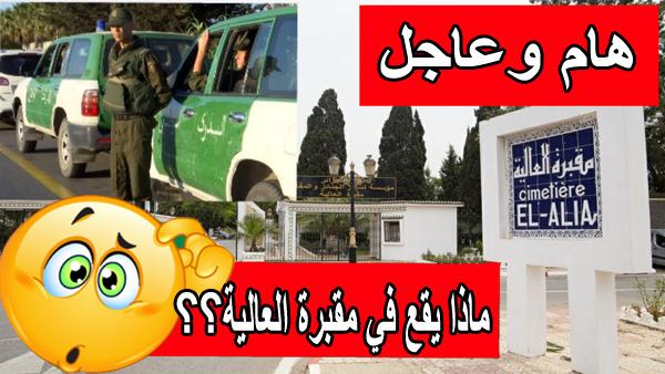 عاجل.. بالفديوا اسطول من سيارات الدرك الوطني واجراءات امنية غير مسبوقة بمقبرة العالية