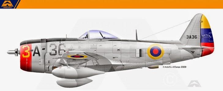 venezuela P-47 1946 escarapela nacional ceo dir 119 cucarda insignia