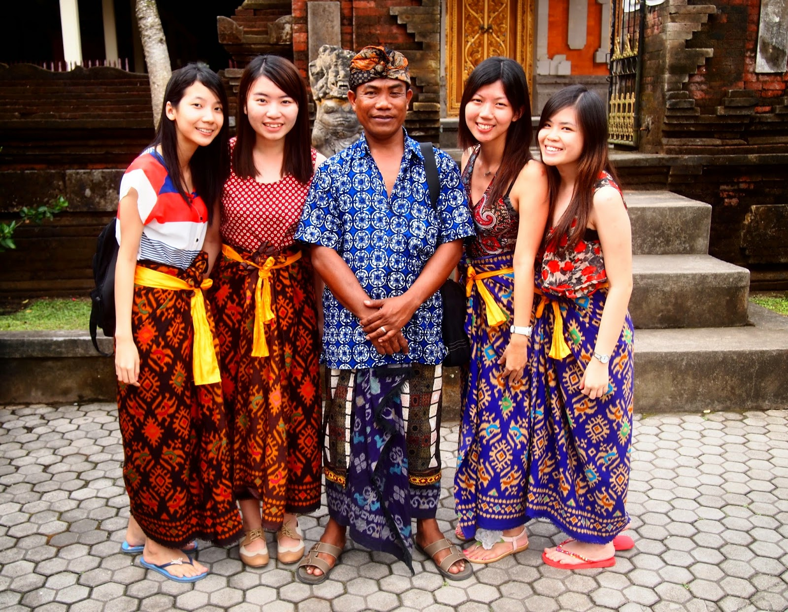 Holy Spring Water Temple Batik wearing