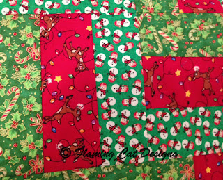 Holly, Candy Canes, Snowmen, Reindeer fabric