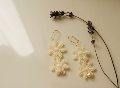 wedding earrings diy lace francinesplaceblog