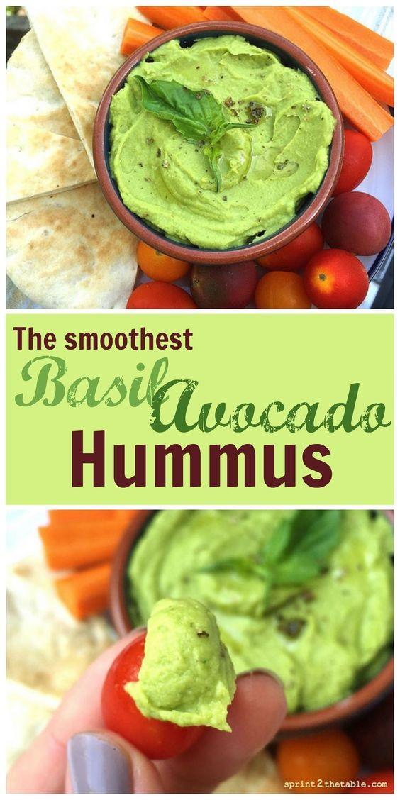 Basil Avocado Hummus