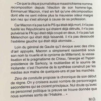 couverture de zero de conduite par Michel Onfray sur LACN