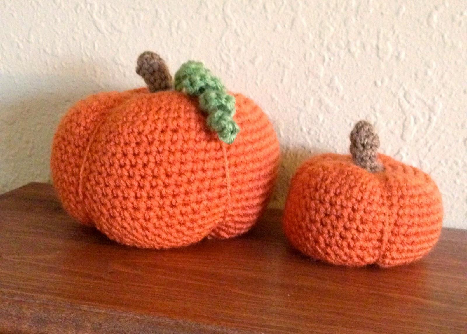 5 Little Monsters: Crocheted Pumpkins In Two Sizes: Free Pattern