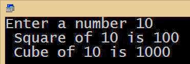 C program to find cube a number