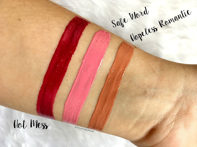Too Faced Melted Latex Lipstick Swatches