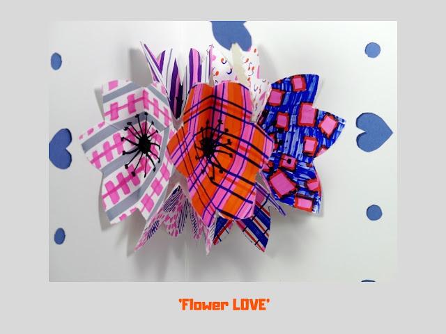 Flower Love, pop up card by Minaz Jantz