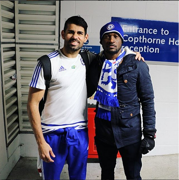 costa of chelsea and peter okoye