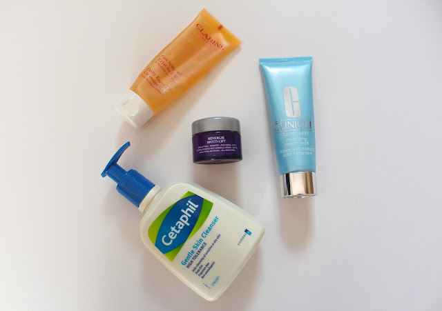beauty blog bloggers bbloggers clarins daily energizer cleansing gel lancome renergie multi-lift moisturiser cetaphil cleanser clinique revitalising instant facial skincare instagram favourites