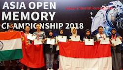 Siswa Indonesia Raih 12 Medali Emas di Ajang Asia Open Memory Championship 2018