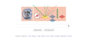 Google celebrating CV Raman's Birthday with a Doodle