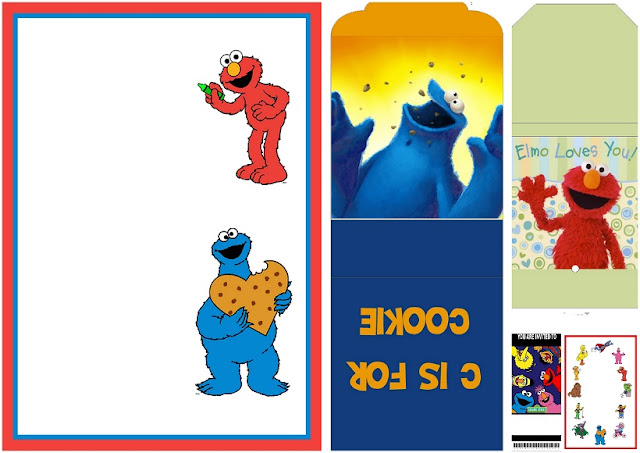 Sesame Street Free Printable Candy Wrappers.