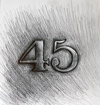 45 number pencil drawing