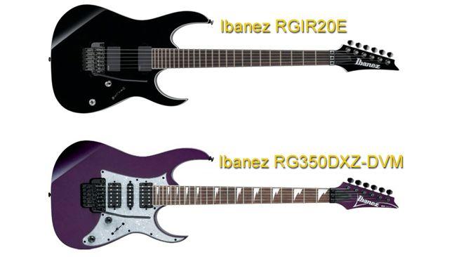 Ibanez RGIR20E Vs Ibanez RG350DXZ-DVM