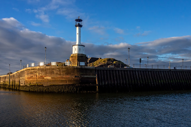 Photo of Maryport Lighthouse taken on the way out of the basin
