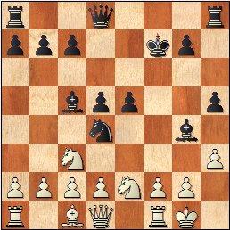 Partida de ajedrez Muñoz - Bescos, Julio 1983, posición después de 11.h3