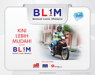 Bantuan Lesen 1 Malaysia : BL1M