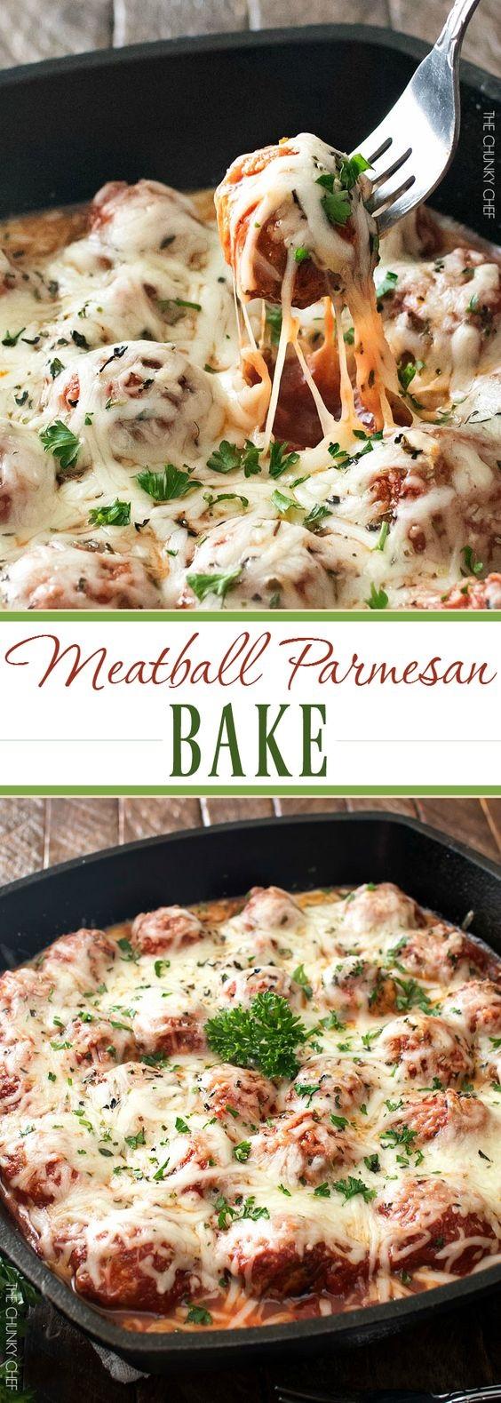 Meatball Parmesan Bake