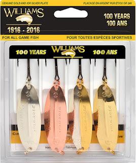 leurre de pêche, cuillère pour la pêche,  pêche, Daniel Lefaivre, Blogue de pêche, Williams, Wabler, Brecks, Williams Wabbler, Cuillère truite, cuillère brochet, 100 ans Williams