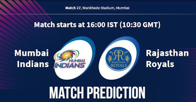 VIVO IPL 2019 Match 27 MI vs RR Match Prediction, Probable Playing XI: Who Will Win?