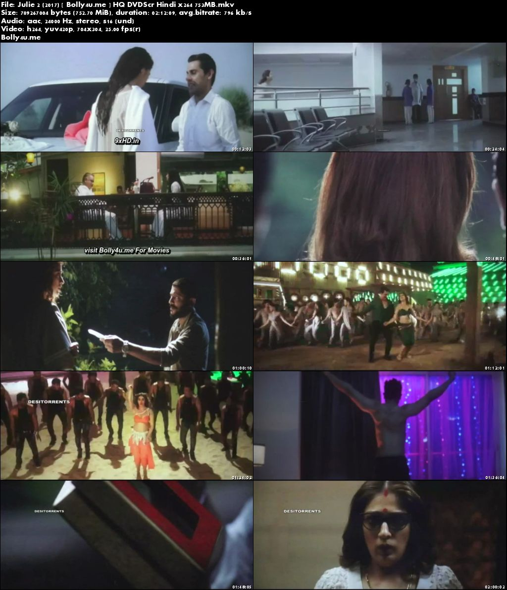 Julie 2 2017 DVDScr 350MB Full Hindi Movie Download 480p