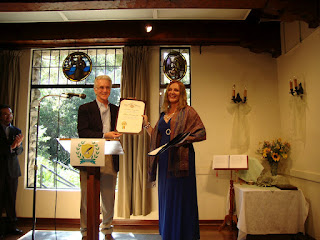 Maja Trochimczyk, 6th Poet Laureate of Sunland-Tujunga with Paul Krekorian