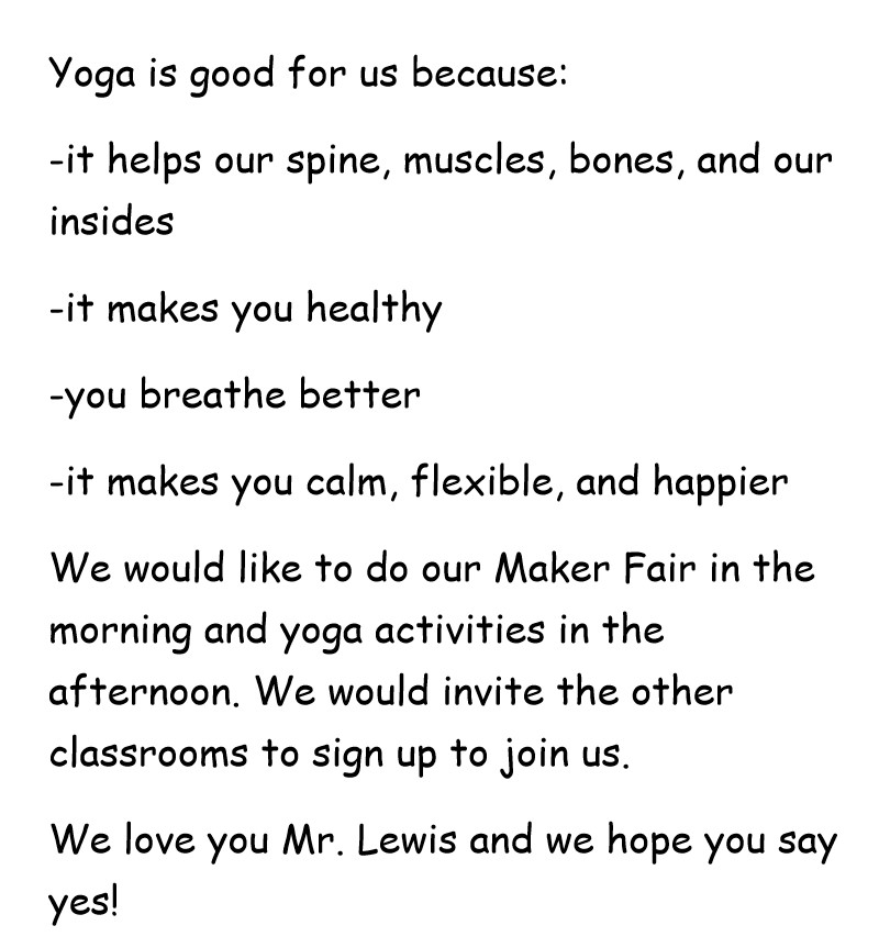Kindergarten diva making a maker faired a yoga festival too although we are young we love yoga clothes and we decided to ask inner fire and lululemon if they would support our yoga festival stopboris Gallery