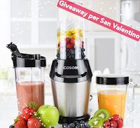 Logo Vinci gratis 3 Frullatori Cosori con il Giveaway di San Valentino