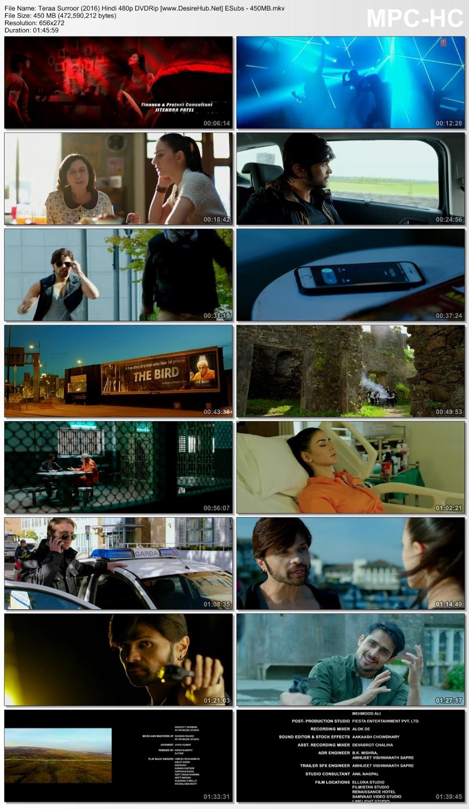 Teraa Surroor (2016) Hindi 480p DVDRip ESubs – 450MB Desirehub