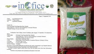 Paguyuban bumi mandiri keluarkan beras bersertifikat organik