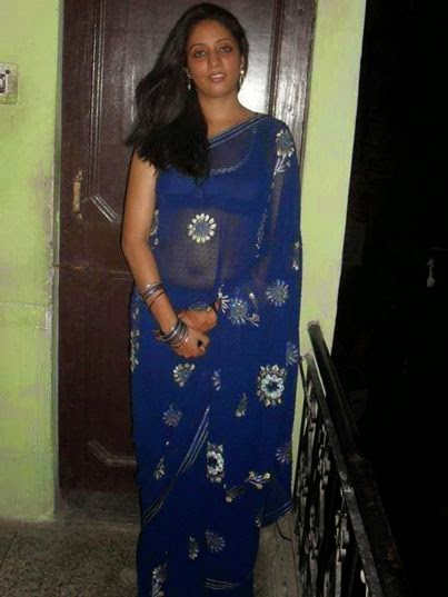 indian girl in blue saree