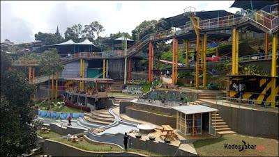 D'Dieuland, Tempat Nongkrong dan Outbond di Kawasan Wisata Punclut Bandung