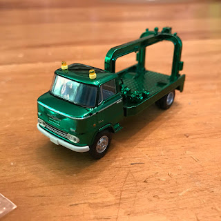 Tomica Limited Vintage Green Chrome Nissan  Wrecker Truck 5 year