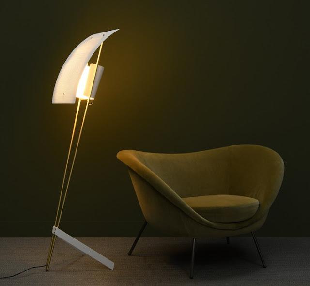 """Floor lamp G30 , called """"Kite"""", Pierre Guariche, 1958. Reissue Sammode Studio."""