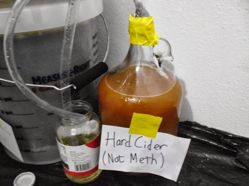 Hard Cider not meth