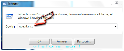execution de changement des variable de windows