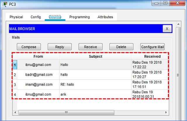 Setting email pada setiap Komputer4