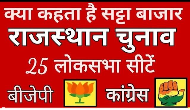 राजस्थान की 25 सीटों पर एग्जिट पोल