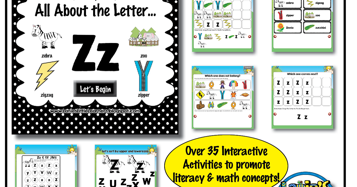 Lanie's Little Learners: All About the Letter Zz {Letter ...