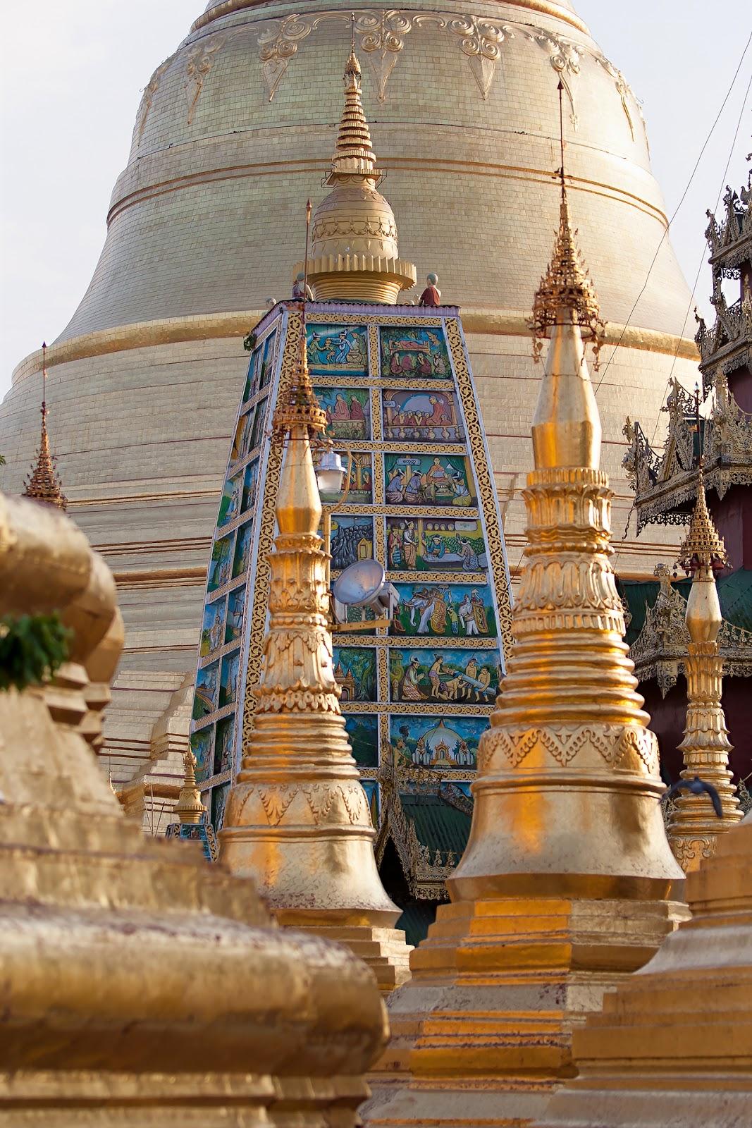 Shwedogon-wpływy hinduskie,myanmar