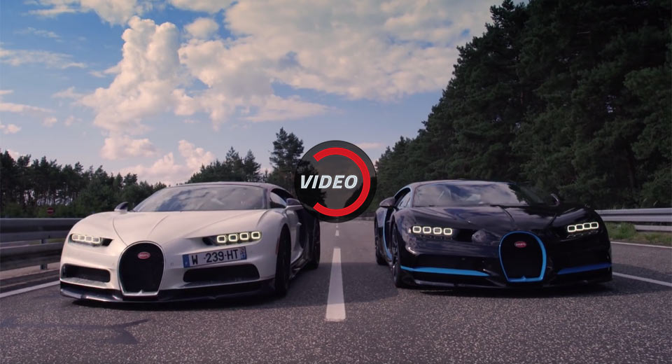 Bugatti Filmed The Chiron's Record Run With A Second Chiron