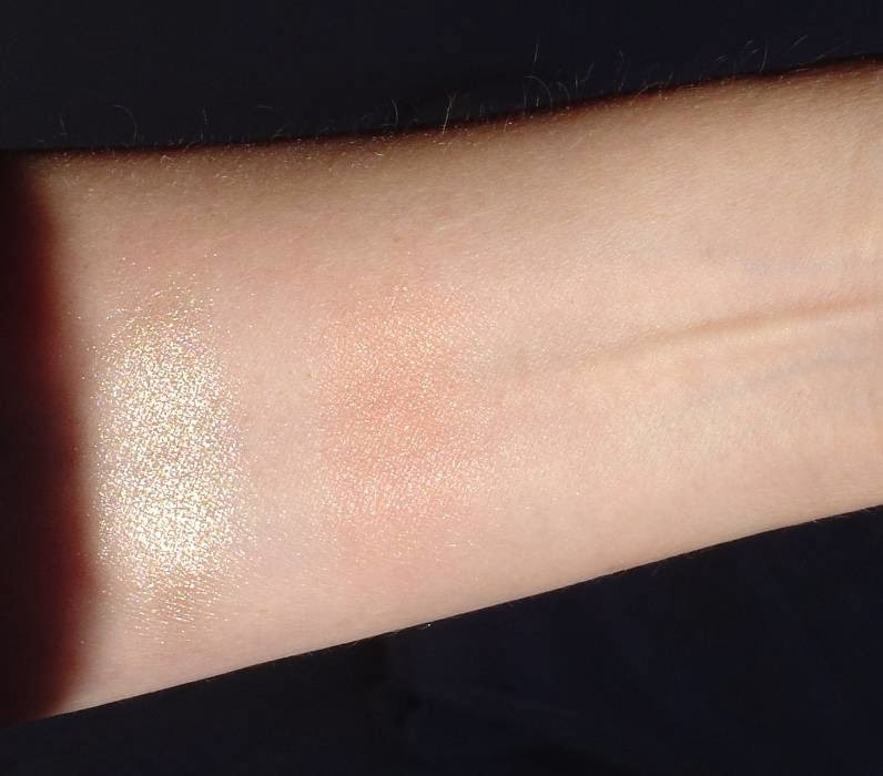 Mally Beauty's Effortless Airbrush Highlighter & Blush Duo Compact swatches