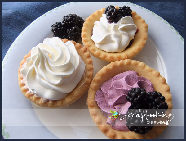 Blackberry Tarts & Mini Cheesecake Cups from The Scrapbooking Housewife