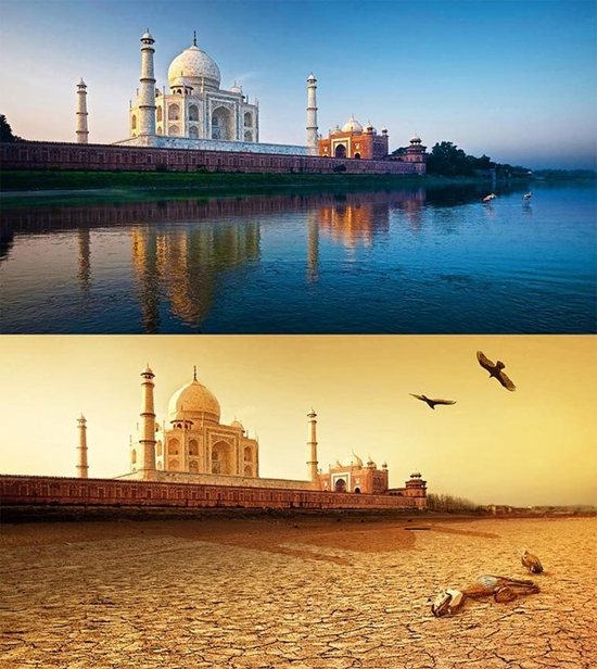 Aquecimento global by Joel Krebs - Taj Mahal