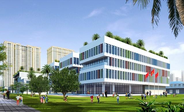 Quy hoạch trường học tại dự án Louis City